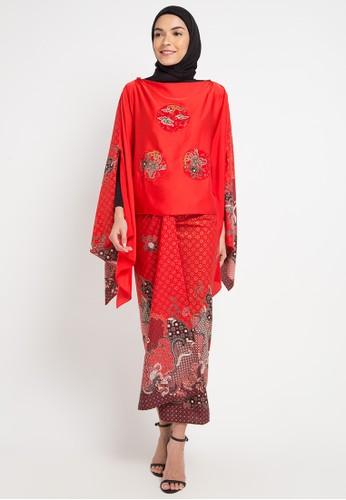 LUIRE by Raden Sirait red and multi A-Rifania AEA25AA55CD15FGS_1