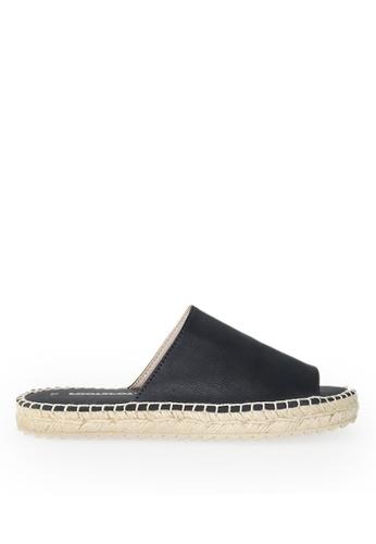 Footspot black FOOTSPOT - Leather Sense Espadrilles 26A12SH6D28FCFGS_1