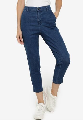 GLOBAL WORK blue Tapered Slim Denim Jeans B2698AAA74F0F1GS_1