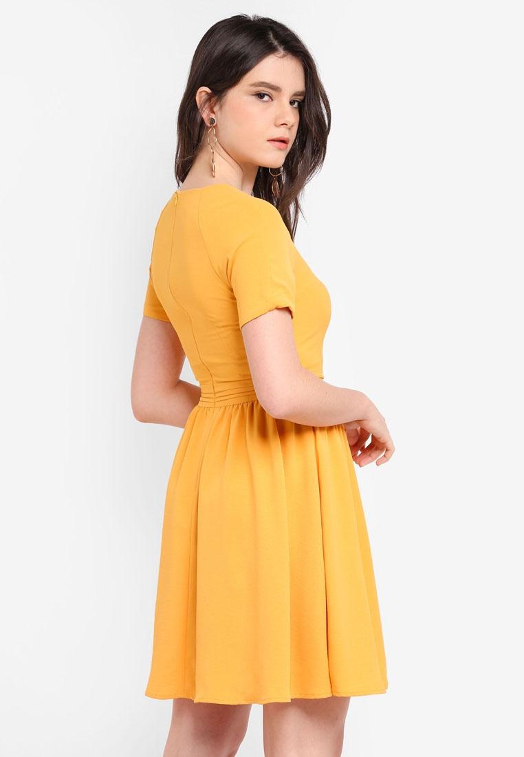 raglon yellow dress amp fit flare zalora xfw7fufyq. Black Bedroom Furniture Sets. Home Design Ideas