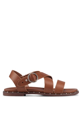244d38bf1 Bata brown Strappy Sandals C1EB9SHAF75C15GS 1