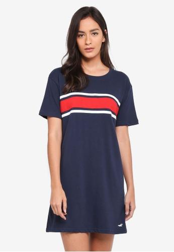 Hollister navy Chase T-Shirt Dress 71CFAAA26A7088GS_1