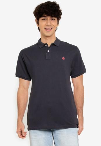 Springfield navy Essential Slim Polo Shirt DD698AA1A7E2A7GS_1