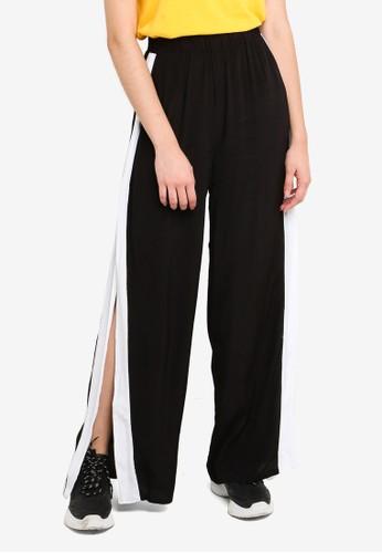 Factorie black Side Split Pants E3772AADF1245AGS_1