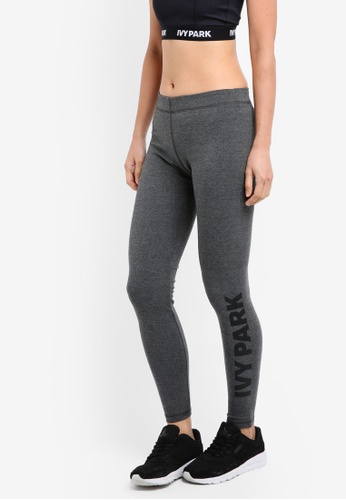 Ivy Park grey Logo Cotton Touch Legging IV000AA0SETTMY_1