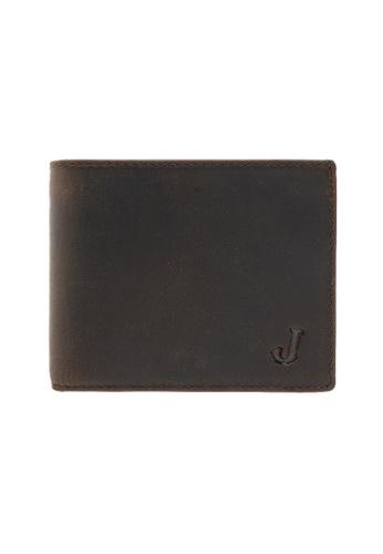 Jack Studio brown Jack Studio Embossed Bifold Leather RFID Coin Pocket Wallet 921FCAC6A99DDEGS_1