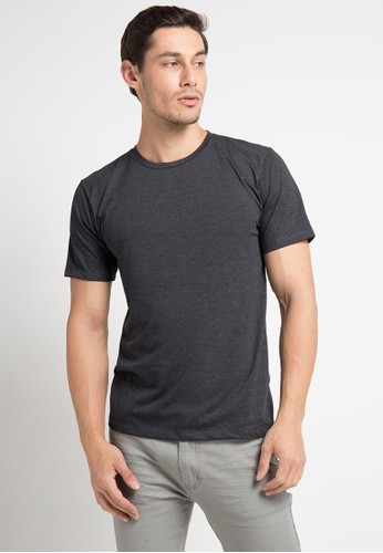 Tolliver grey Round Neck Basic Tee 1D1D0AA33106E1GS_1