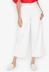 the___edit white George Linen Pants A8BFBAAA5DA27CGS_1