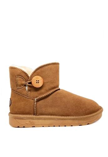 Twenty Eight Shoes 真皮短桶圓鈕雪地靴UUD04 46C16SH409F095GS_1