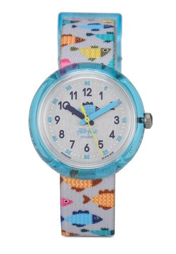 Flik Flak grey and blue Fishtastic Watch EA46AKC32ACE6FGS_1