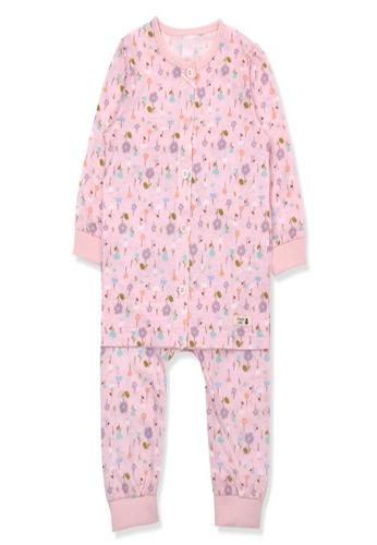Organic mom pink Organic Cotton Sandy Floral Lightweight Long Sleeves Pjs 7DCA4KAAB2FDB4GS_1