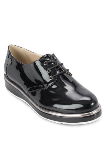 漆皮厚底繫帶運動鞋, 女鞋,esprit台灣outlet 鞋