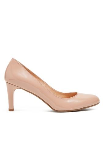 Shu Talk pink Simply Classic Patent Leather Heels SH617SH2VI7PHK_1