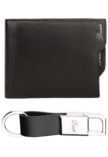 Jackbox black [FREE Key Chain] Dante Premium Leather Scrub Surface Horizontal Men's Wallet 855 (Black) JA762AC17QSCMY_1