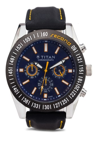 Titan 9491esprit 香港 outletKP01 多功能三指針圓框錶, 錶類, 紳士錶