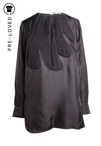 Tsumori Chisato black Pre-Loved tsumori chisato Transparent Black Top tie on the front C681DAA9B04044GS_1