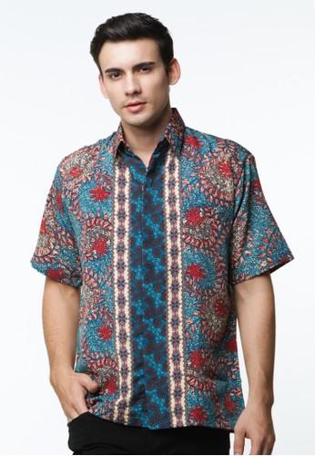 Waskito Hem Batik Semi Sutera - HB 10566 - Blue
