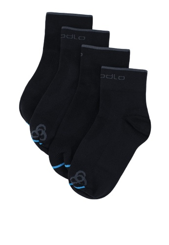 Odlo black Allround Sport Mid Basic Short Socks 2 Pack CD713ACC424DA1GS_1