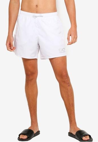 EA7 white Sea World Bw Core Swim Shorts 5D01FUS96C1F7EGS_1