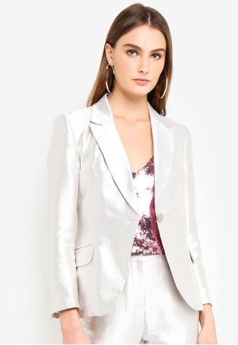 ff9ed52d4913 Buy TOPSHOP Petite Satin Suit Jacket Online on ZALORA Singapore