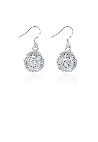 Glamorousky silver Elegant Romantic Fashion Rose Flower Earrings 943F4AC8E50D4EGS_1