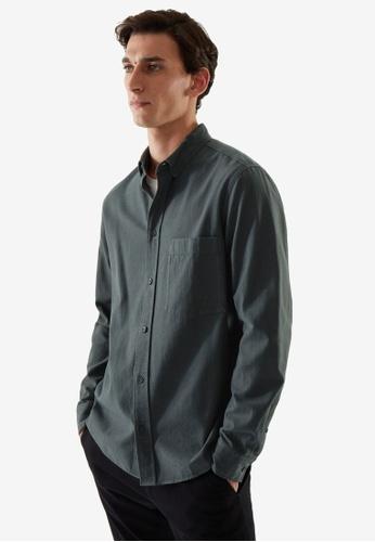 COS green Regular-Fit Shirt E1E5DAA7A5A0B4GS_1