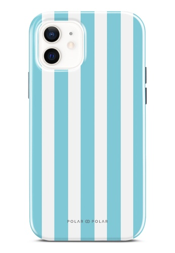 Polar Polar blue Baby Blue Stripe Dual-Layer Tough Case Glossy For iPhone 12 Pro / iPhone 12 E717FACA65F86EGS_1