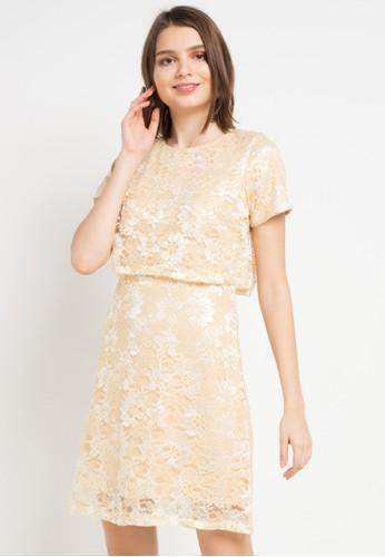 EPRISE yellow Iris Dress 84091AAE78E873GS_1