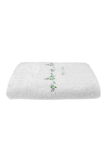 Charles Millen white SET OF 2 SUZANNE SOBELLE by CHARLES MILLEN Petite Rose - Bath Towel 65x130cm/336g. FF3D2HL9DB56D1GS_1