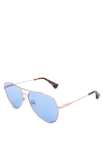 Sonix blue and gold Lodi Sunglasses 2F7B8GLD377643GS_1