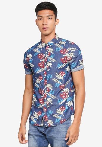 Superdry blue and multi Miami Loom S/S Shirt DDFDEAA897EDDAGS_1