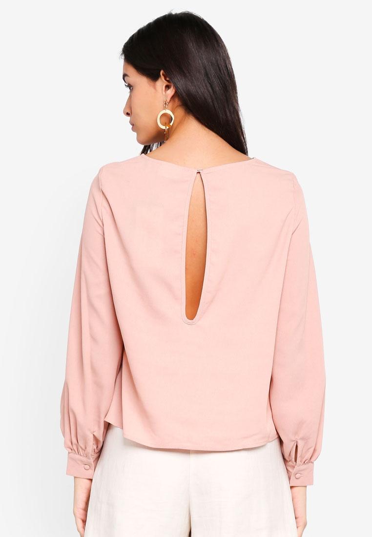 Sleeve Rose Misty Moda Blouse Elisia Long Vero YtqBn