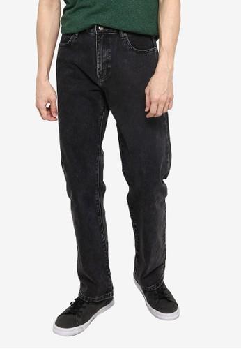 Superdry black Heritage Straight Jeans E53B6AADA21B89GS_1
