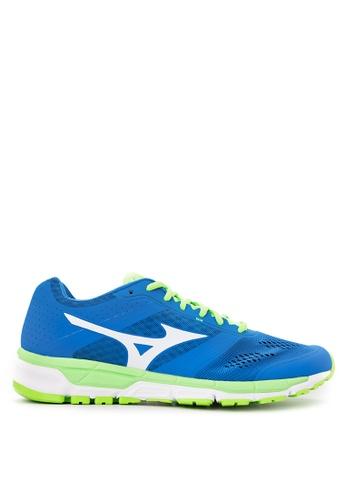 Mizuno blue Synchro MX Running Shoes MI197SH51CLWPH_1