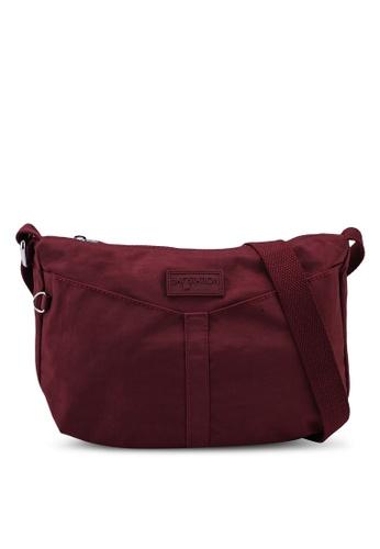 Bagstationz red Crinkled Nylon Mini Sling Bag 70D2AACA1B25C4GS_1