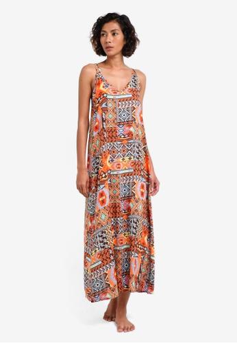 Piha multi California Dream V Neck Beach Dress PI734AA0RU2IMY_1