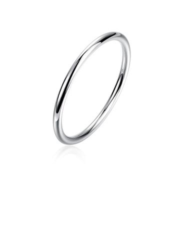 Glamorousky silver Fashion Simple Geometric Round Bangle F49B8AC9BBC5F6GS_1