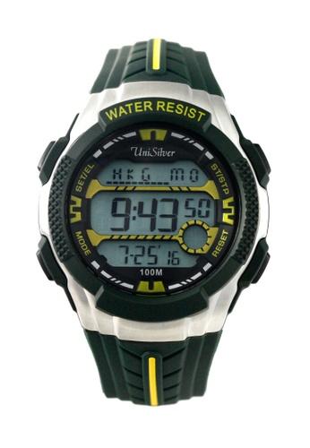 UniSilver TIME green Darren Espanto's Dymo-Beatz Digital Rubber Watch KW2247-1002 UN802AC57UCKPH_1