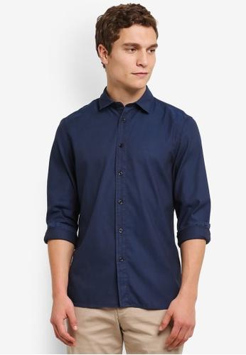 Calvin Klein navy Garment Dyed Shirt - Calvin Klein Jeans CA221AA0RWSAMY_1