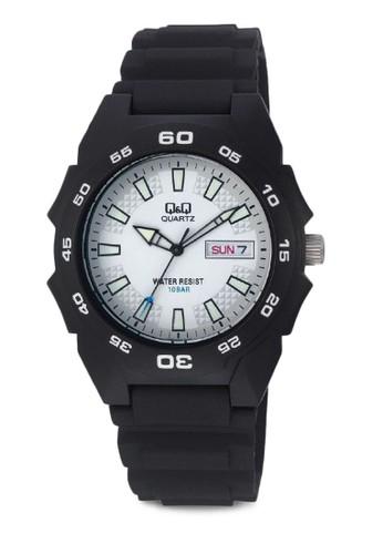 Q&zalora 鞋評價amp;Q A170J002Y 防水休閒手錶, 錶類, 其它錶帶