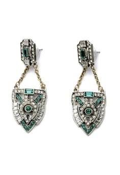 Lulu Frost Art Deco Crystal Drop Earrings