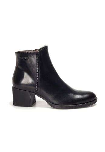 Shu Talk black WONDERS Chic Pointed Toe Ankle Boots 4C659SHB068065GS_1