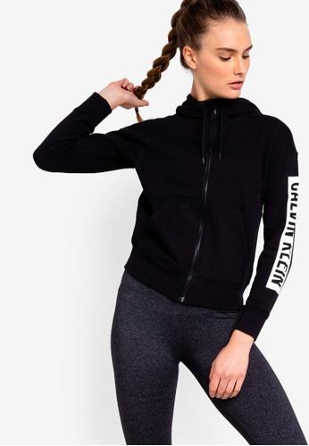 Calvin Klein black Fleece Hoodie With Logo - Calvin Klein Performance 8FE53AA82716B7GS_1