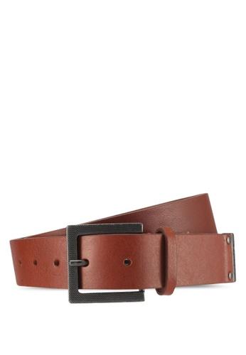 Calvin Klein brown Cross Hatch Belt - Calvin Klein Accessories 17C21ACAC0B827GS_1