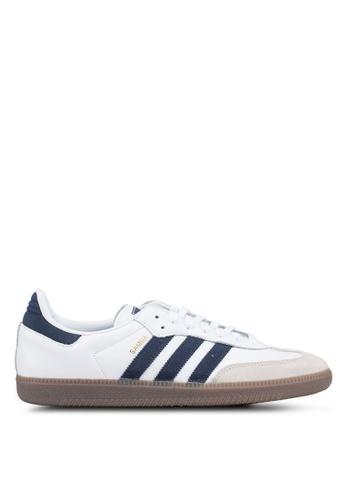 adidas white adidas originals samba og 01DE1SH7450E01GS_1