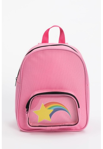 DeFacto pink Rainbow Printed Backpack 15D8DKC81A975AGS_1