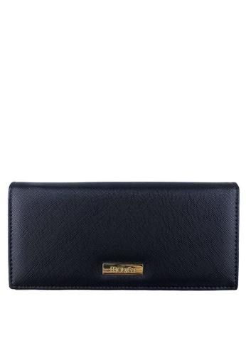Mel&Co black Faux Leather Long Wallet 228E8AC48793A1GS_1