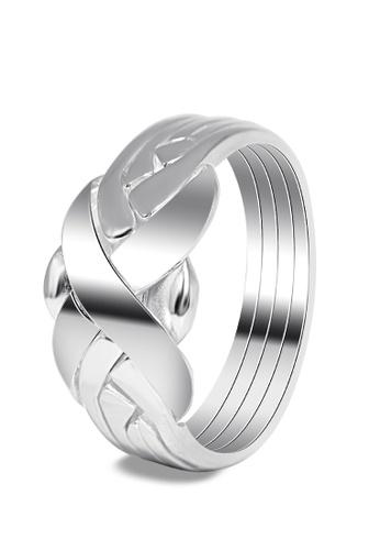 SC Tom Silver silver Men's Puzzle Ring SC872AC0JDDQPH_1