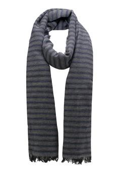 Sisley-雙色條紋圍巾