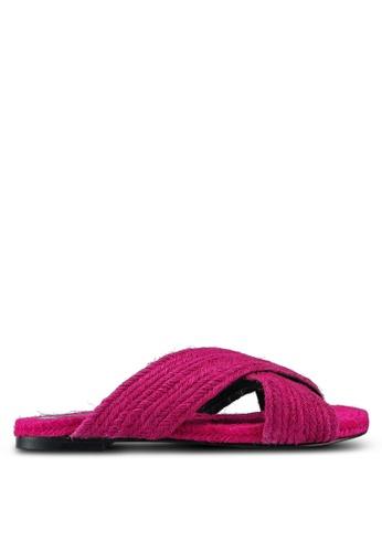 TOPSHOP pink Pink Rope Sliders CCCA9SH0DB0AF0GS_1